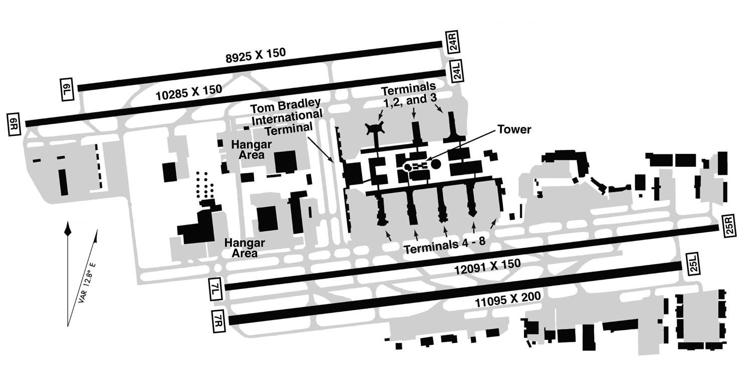 airports layout and maps on pinterest : lax airport diagram - findchart.co