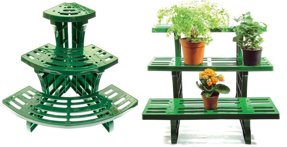 Etagere Potted Plant Pot Stand 3 Tier Garden Display Straight Or