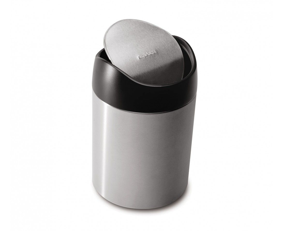 15 At Simplehuman 1 5l Small Steel Countertop Trash Can 5 X