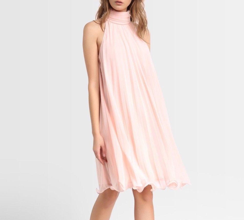 Schönes Plisseekleid in Rosa von APART FASHION  Chiffonkleid