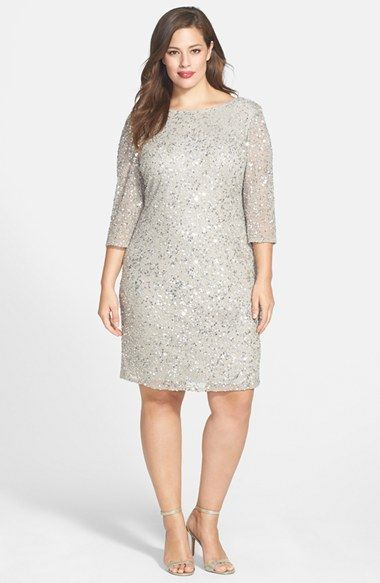 38b6ca1e4 Pisarro Nights Draped Back Beaded Dress (Plus Size) available at #Nordstrom