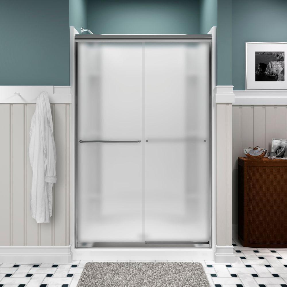 Sterling Finesse Frameless Sliding Shower Doors Bathroom