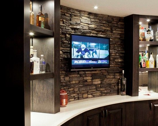 Genial Basement Design, Pictures, Remodel, Decor And Ideas   Page 14 Tv Behind Bar