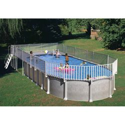 above ground end deck (for 18 x 33 oval pool) | oval pool, pool