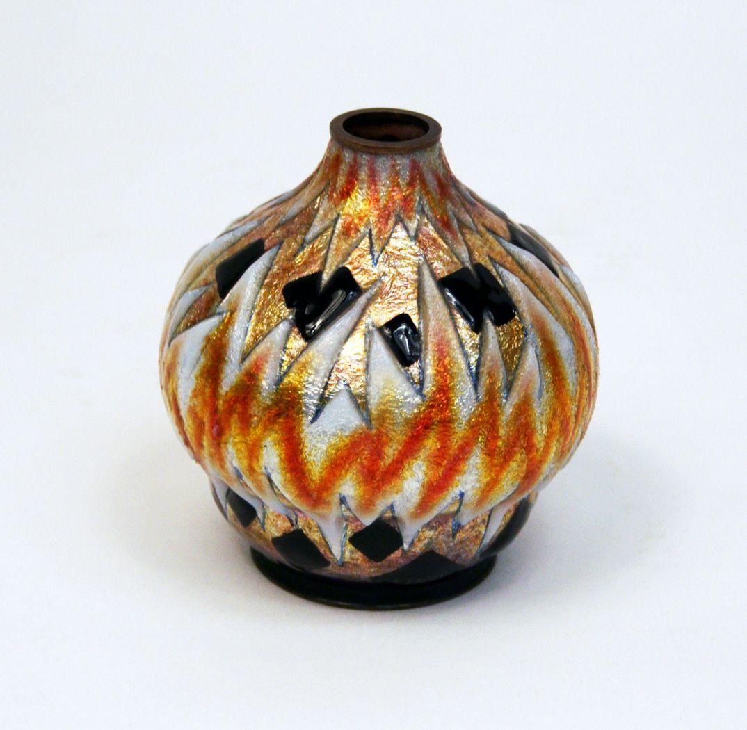 Idee Deco Vase Rond art deco geometric vase camille faure paris: 1930
