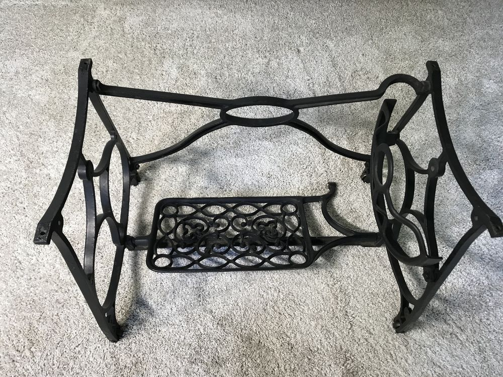 Antique Cast Iron Sewing Machine Treadle Base Legs Stand Black Custom Sewing Machine Treadle Base