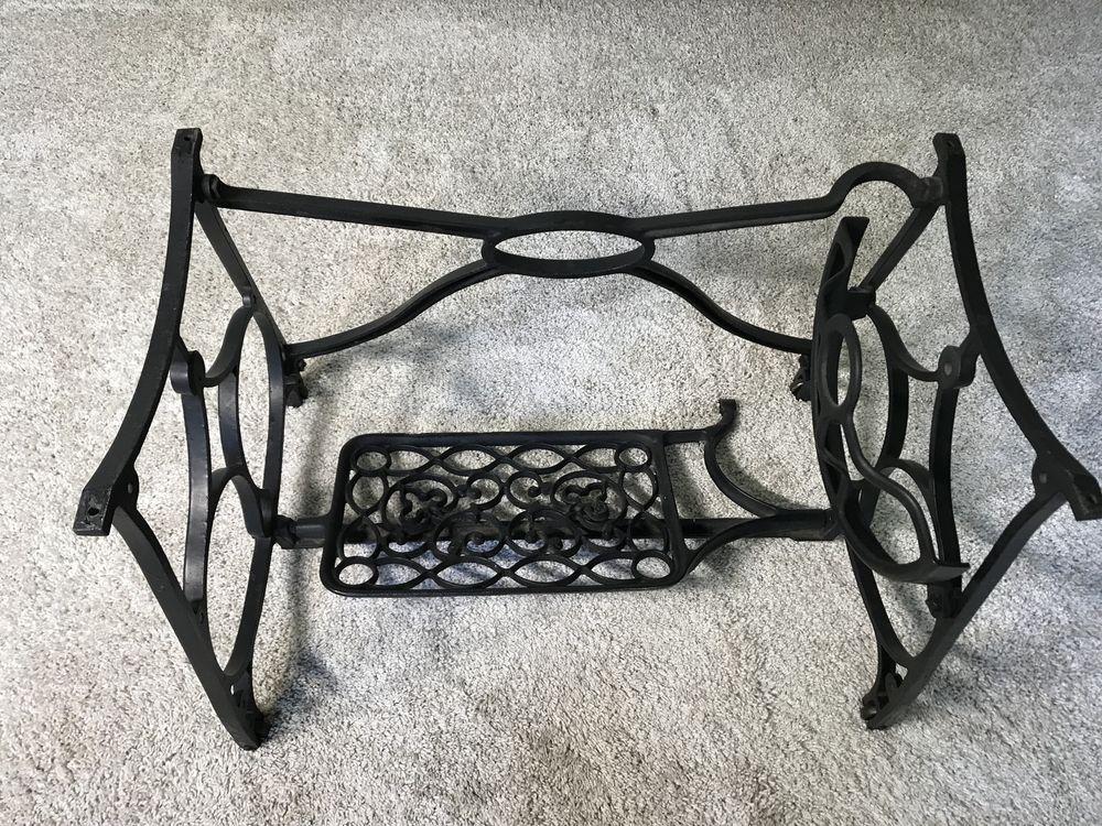 Antique Cast Iron Sewing Machine Treadle Base Legs Stand Black Custom Sewing Machine Treadle Base
