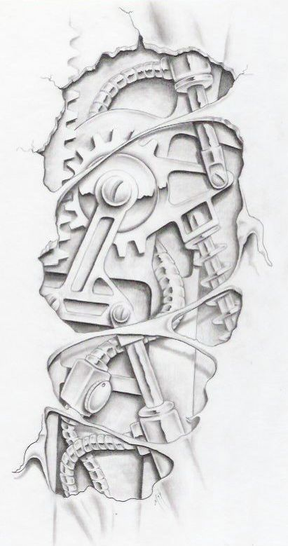 Biomechanical Graphite By Markfellows On Deviantart Gears Sprockets