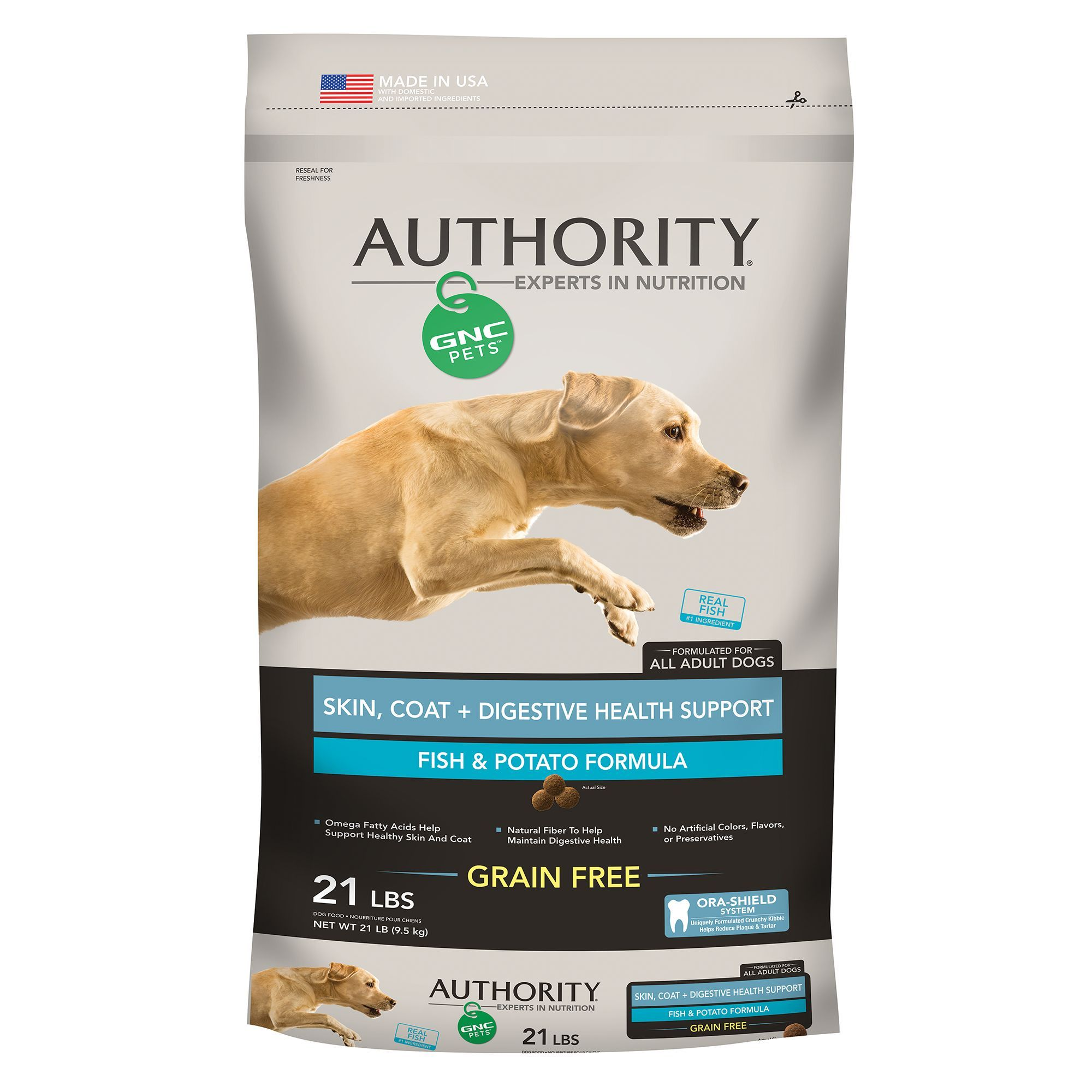 Authority Gnc Pets Skin Coat Digestive Health Support Adult Dog