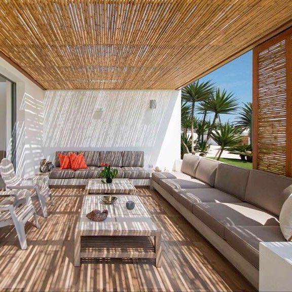 techo #bambu #cañas #tacuara #naturalbarnizado #bambuguazu #verano