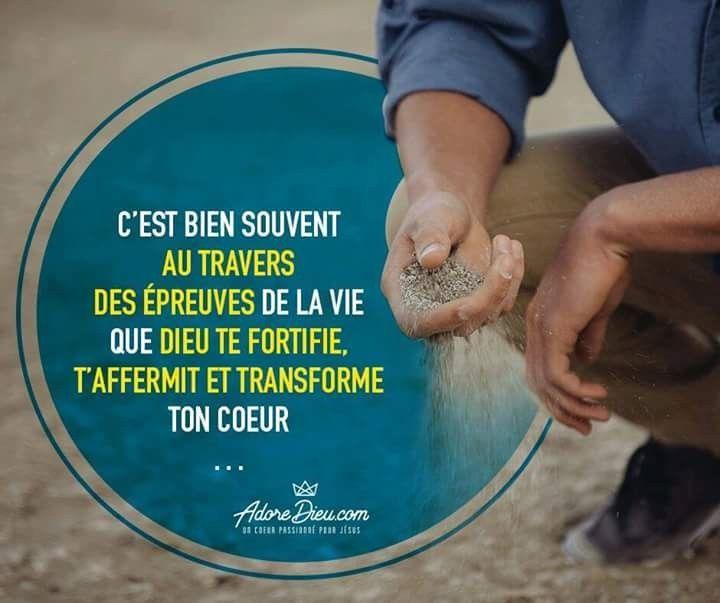 C Est Bien Souvent Au Travers Des Epreuves De La Vie Que Dieu Te Fortifie T Affermit Et Transforme Ton Coeur Bible En Francais Versets Chretiens Dieu
