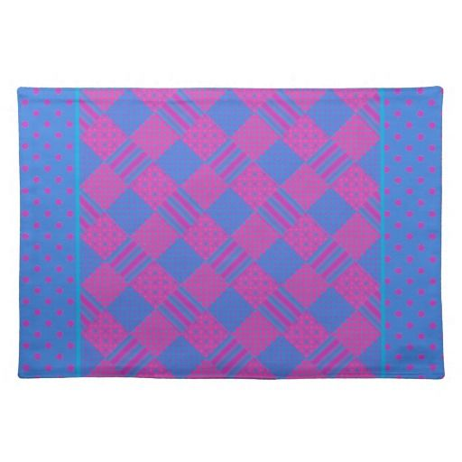 Chic Cloth Table Mat, Mix'n'match, Magenta and Blue:  Place Mats - $23.95 -http://www.zazzle.com/chic_cloth_table_mat_mixnmatch_magenta_and_blue_placemat-193210591339546037?rf=238041988035411422