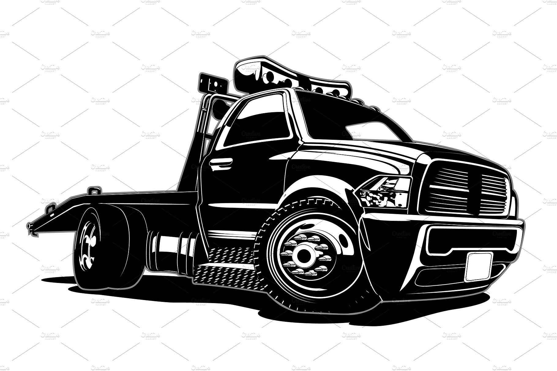 Cartoon Tow Truck With Images Tow Truck Towing Cartoon