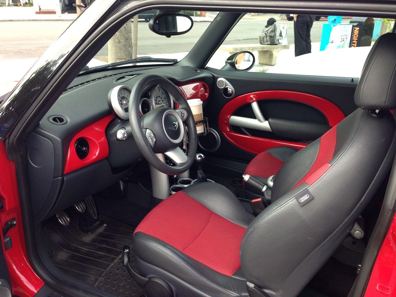 R53 Jcw Red Interior Trim Four Wheels Good Mini Cooper S 2006