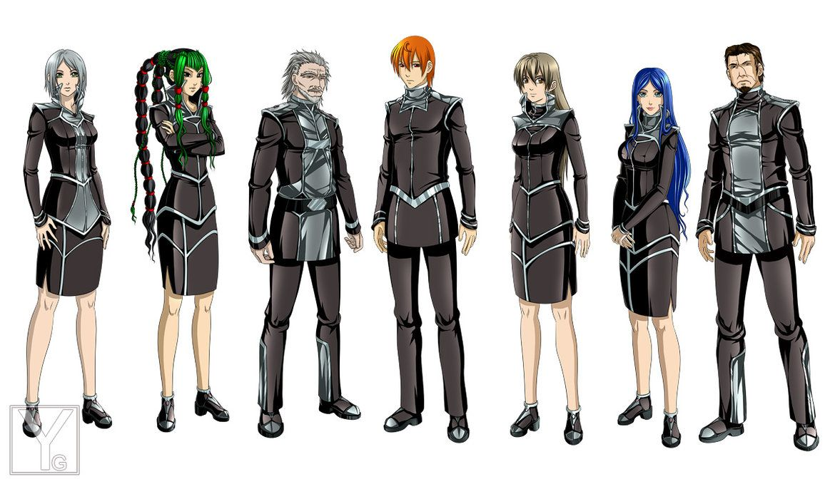 Character Design Chart : Character design officers by aaorin