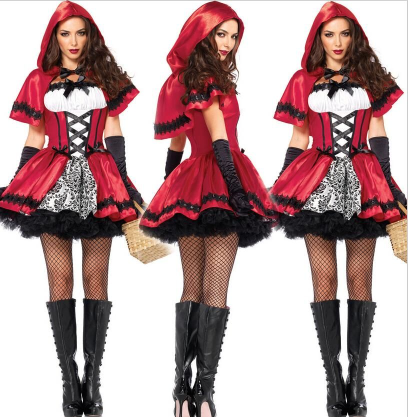 top sale halloween costumes sexy red riding hood costume role play role play animated cartoon costumes - Sale Halloween Costumes