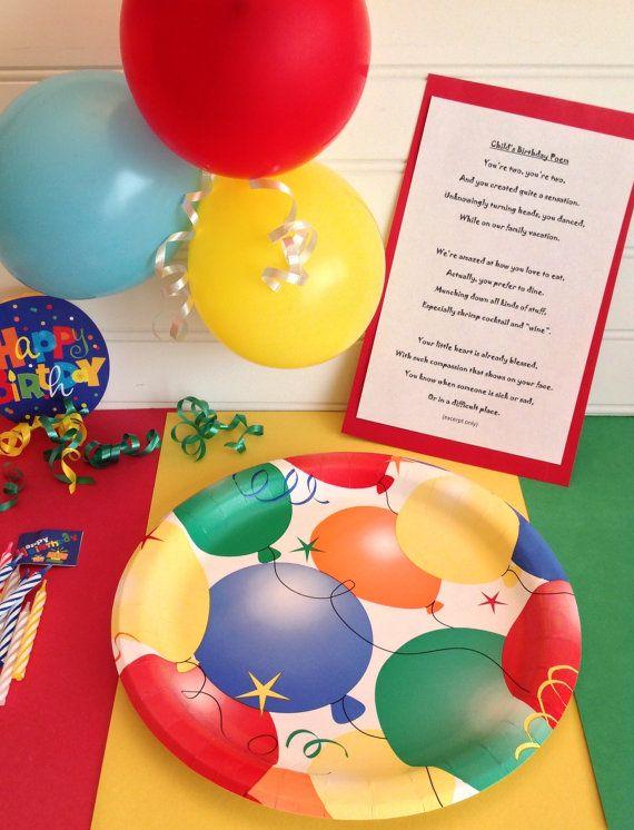 Childss Birthday Poem First Birthday Second Birthday Personalized Childs Birthday Poem On Etsy