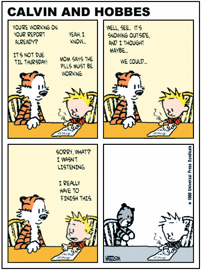site comics strip web Calvin featuring hobbes