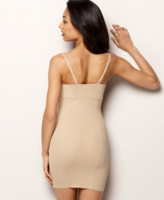 610c04902b Maidenform Firm Control Open Bust Body Shaper Slip 2541 - Tan Beige 2XL