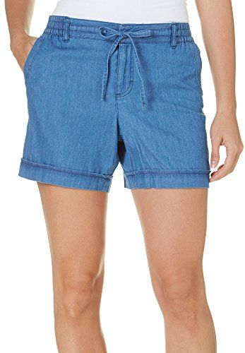 Gloria Vanderbilt Womens Molly Soft Denim Shorts 18 Sparrow blue ...