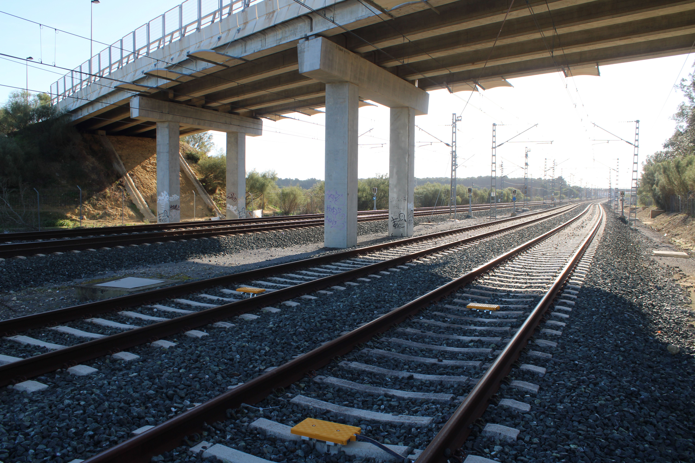 estación de ferrocarril de Las Aletas, en Puerto Real