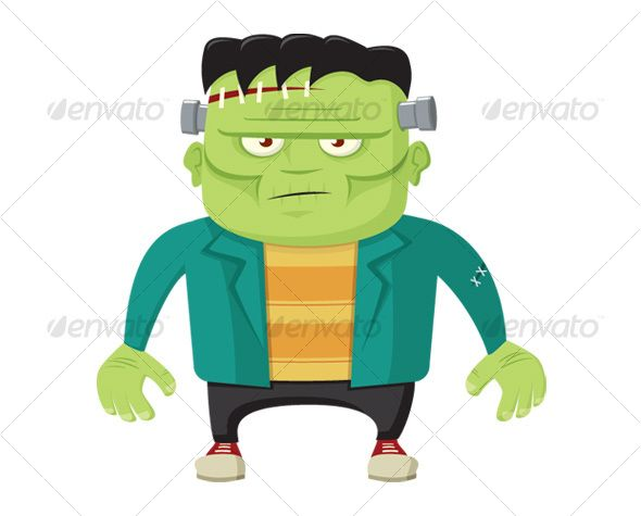 Cartoon Frankenstein's Monster | Scary scary
