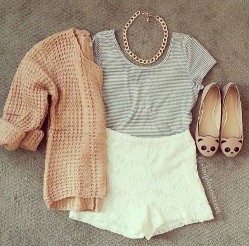 different shoes but cute outfit