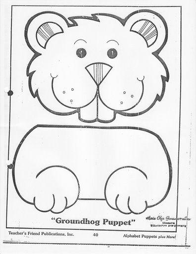 Groundhog Puppet X Groundhog Day Activities