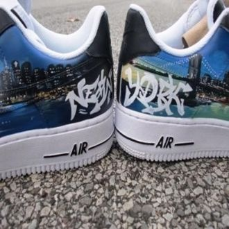 Permeabilidad gravedad Decano  Empire State of Mind New York Sneakers-by Sole of LA | Sneakers, Custom  shoes, Handbag shoes