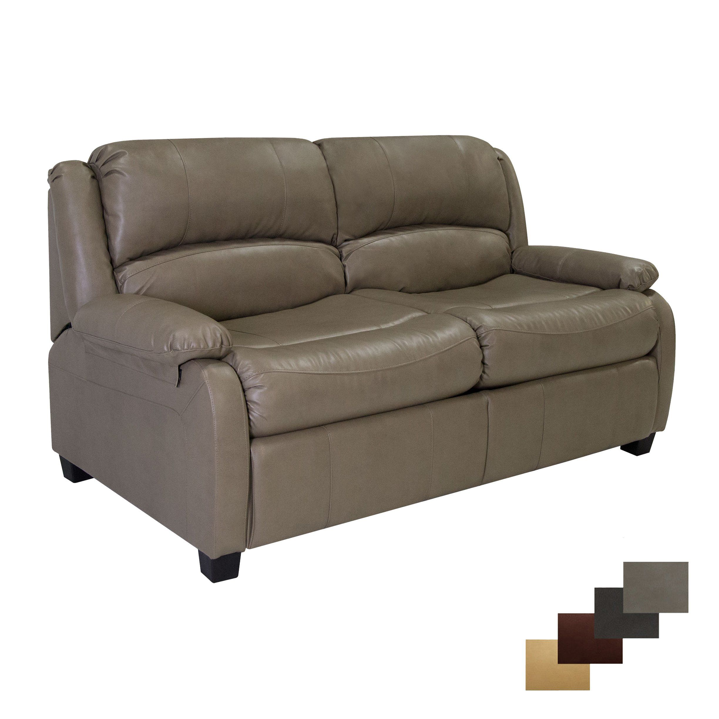 Recpro Charles 65 Rv Sofa Sleeper W Hide A Bed Loveseat Putty Rv