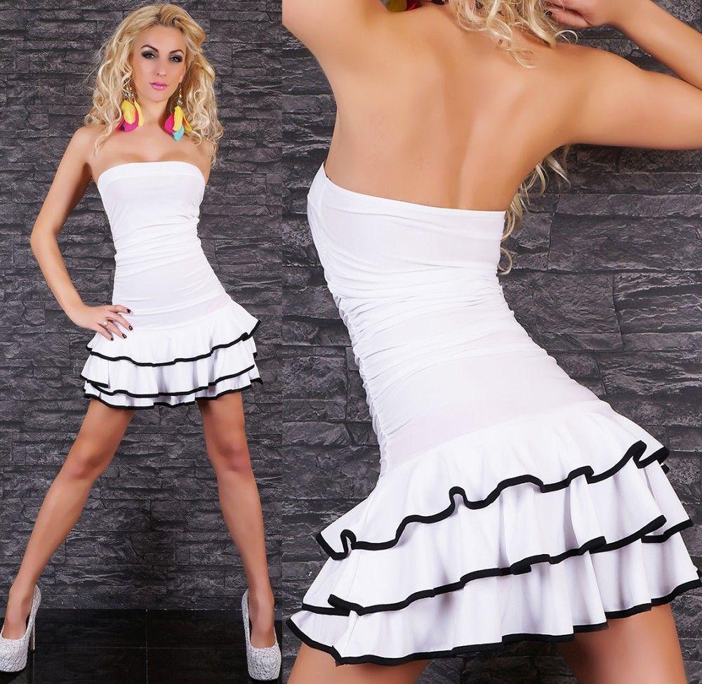 1d9305f747 Fehér/fekete fodros miniruha. Ezt a pint HG Fashion Női Ruha Webáruház ...