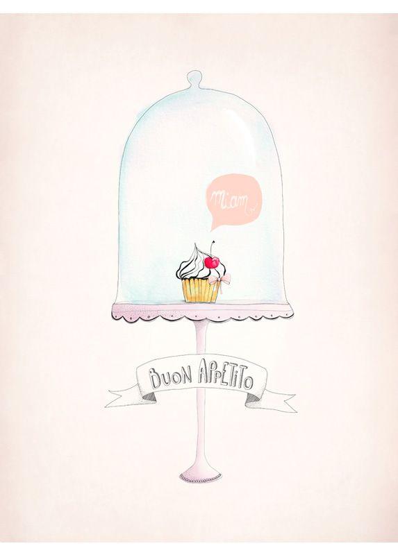 Affiche Déco Cupcake - Déco Cuisine - Aline Caron