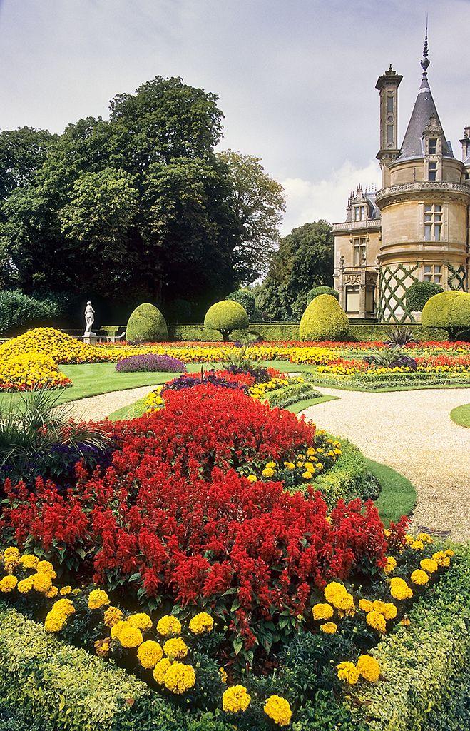 Waddesdon Manor Gardens, Buckinghamshire, England, UK: : This Immaculate Victorian  Garden,