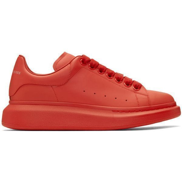 eb0731a608f8 Alexander McQueen Red Oversized Sneakers ( 615) ❤ liked on Polyvore  featuring men s fashion