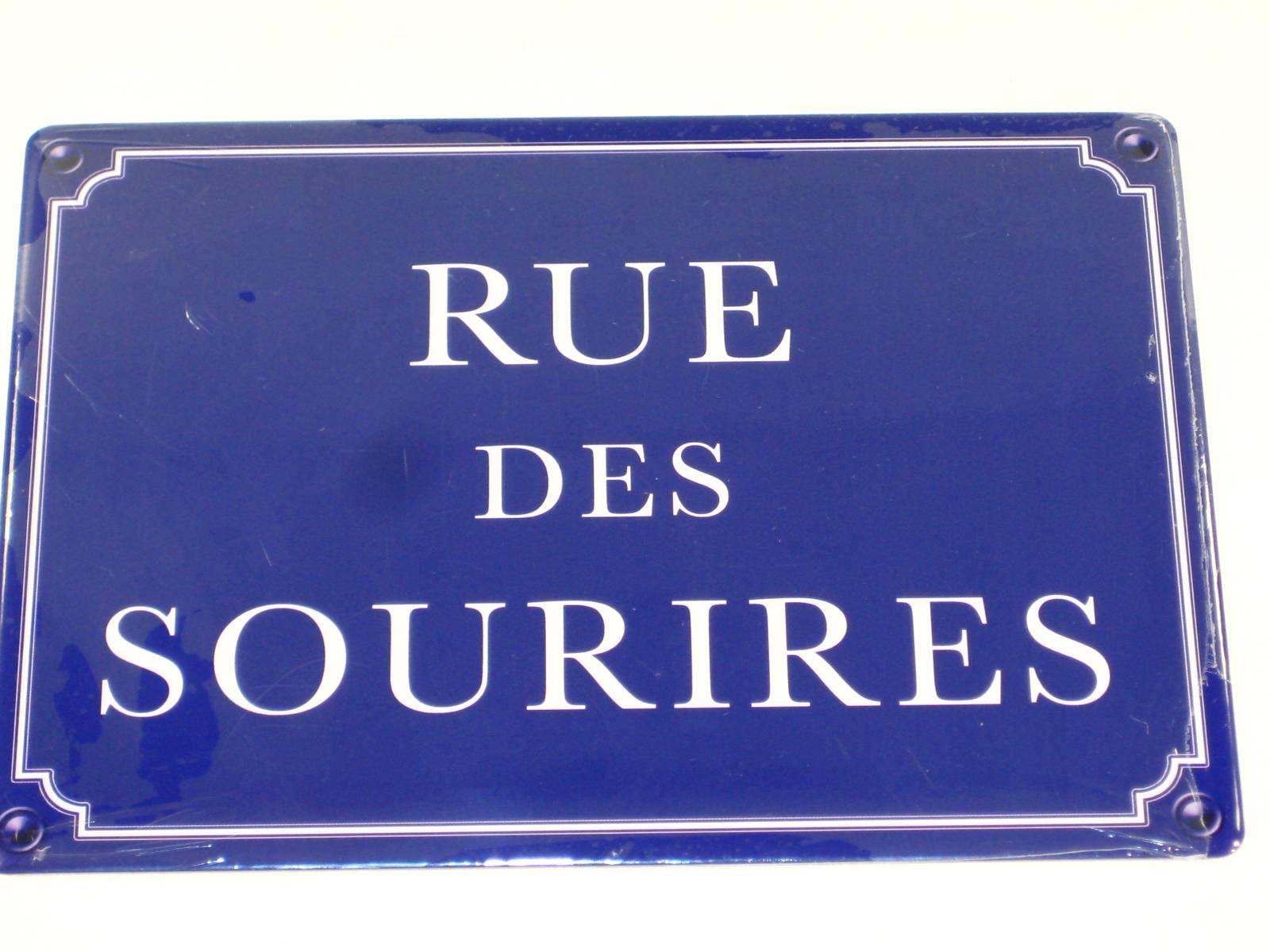 Plaque Métal Rue Des Sourires