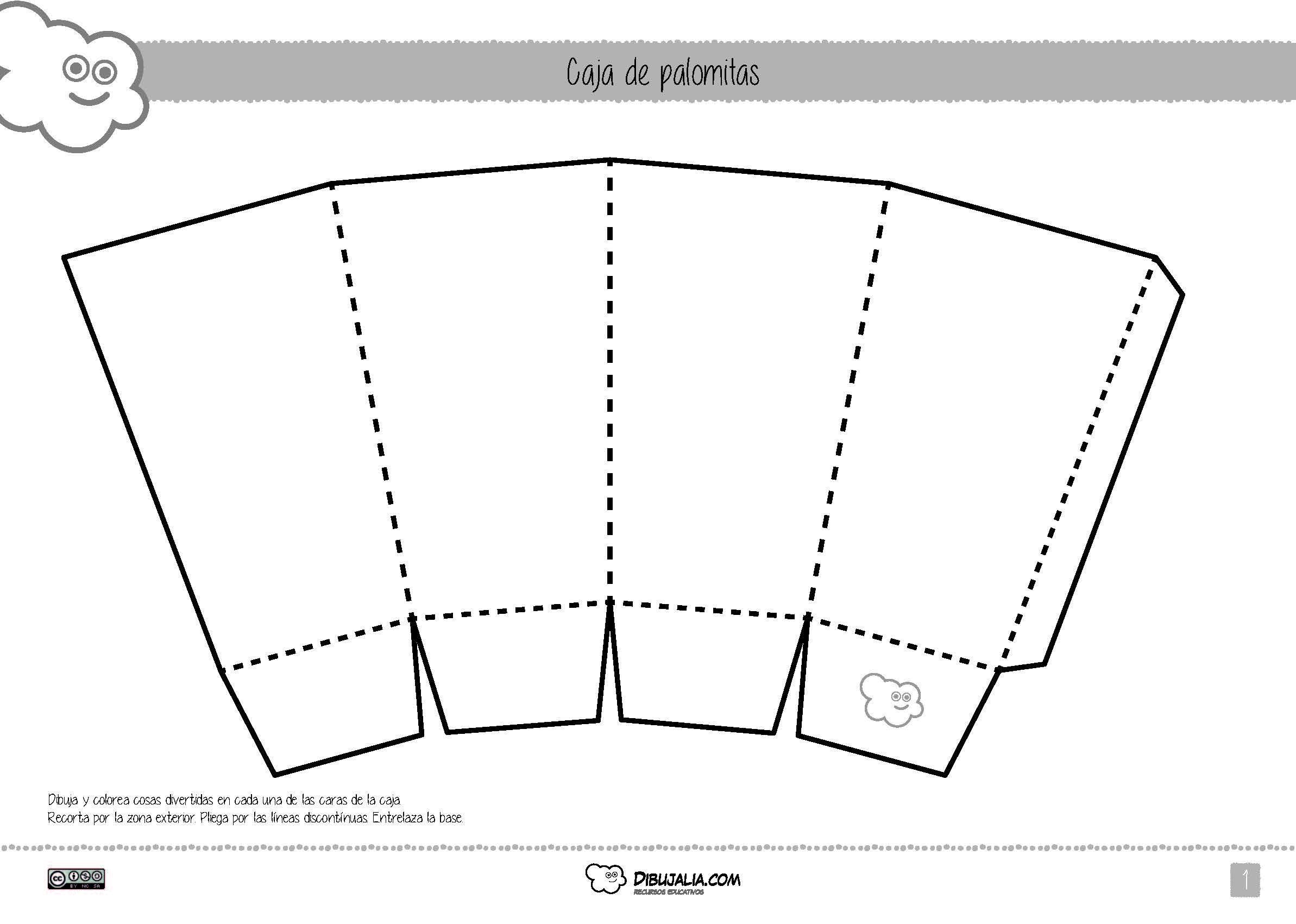 Dise a y construye tu caja de palomitas personalizada - Como hacer cajitas de cartulina ...