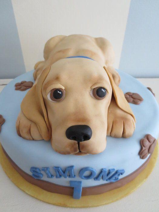 "Labrador Gâteau D/'anniversaire Rond Comestible glacé Icing Frosting 7.5/"" 8 Cupcake"