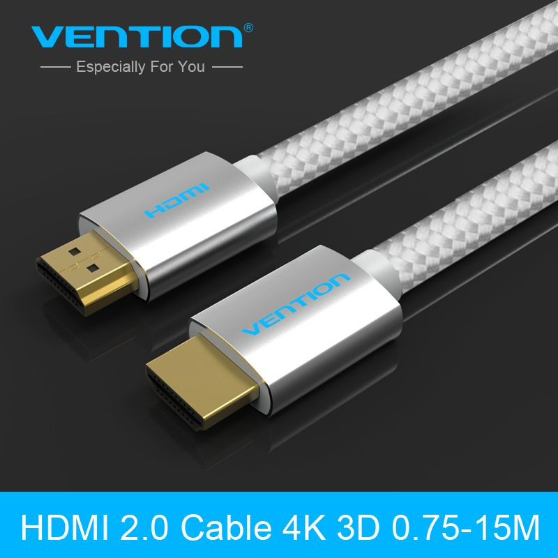 Vention Hdmi Cable Hdmi To Hdmi Braided Zinc Alloy Cable Hdmi 2 0 4k 1080p 3d For Ps3 Projector Hd Lcd Apple Tv Computer Cables Apple Tv Hdmi Projector Hd
