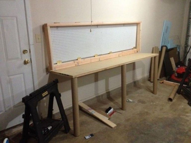 Pin By Kyle Zoll On Home In 2020 Folding Workbench Folding Walls Wall Mounted Table