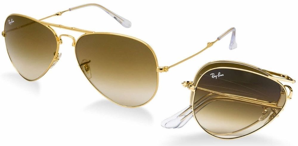 9b2cd932bb7 Ray-Ban Aviator Folding RB3479 001 51 Gold Frame Brown Gradient Lenses 58-14  mm  fashion  clothing  shoes  accessories  unisexclothingshoesaccs ...