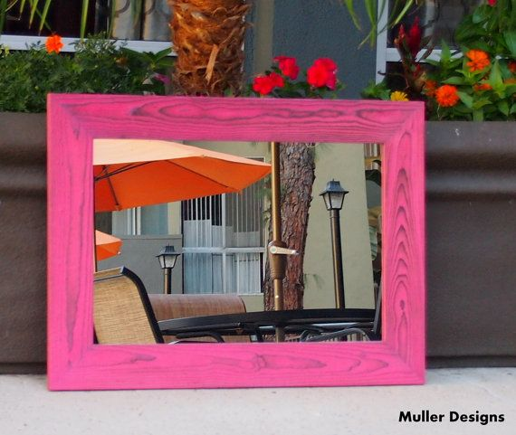 pink mirror frame by Muller Designs   Full length mirror/ wall ...