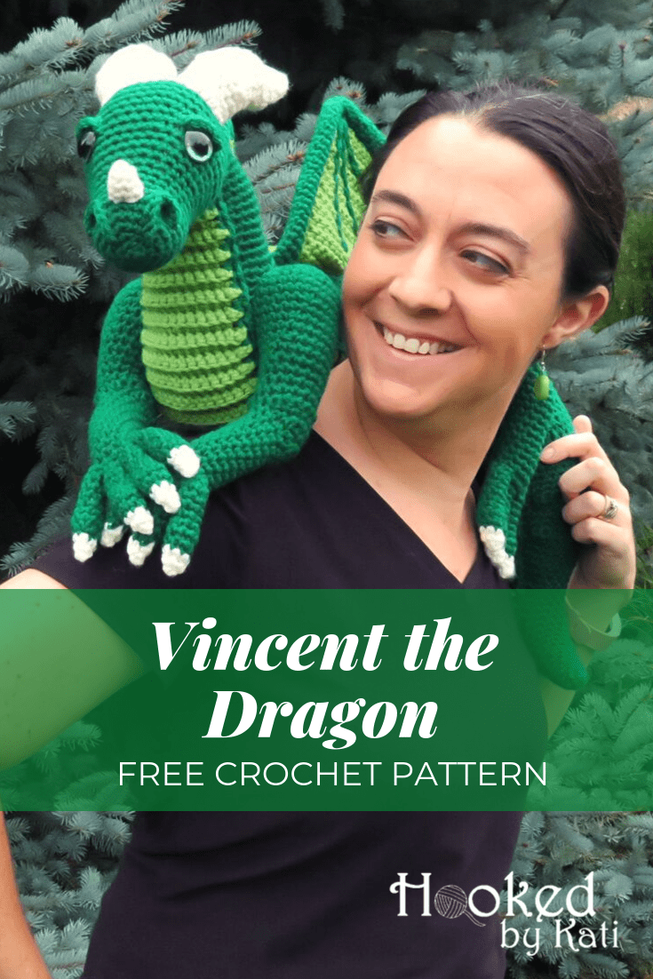 Photo of Vincent the Dragon | Free Crochet Pattern Amigurumi | Hooked by Kati