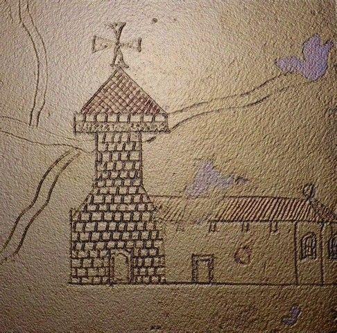 Dugny sur Meuse - Meuse - Croquis de l'église fortifiée avant le 18ème siècle. Pensez vous qu'elle ait toujours cette architecture ?