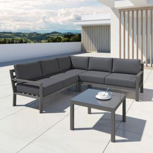 Ims Garden - Mio - Ensemble salon de jardin design aluminium - Gris ...