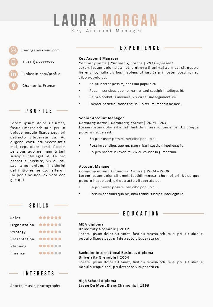 Modern Word Resume Template Word and PowerPoint Resume
