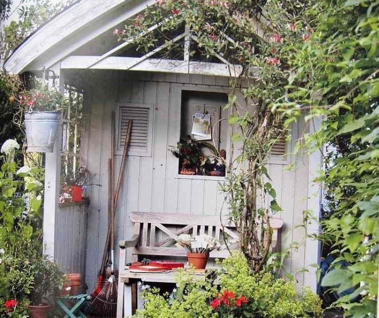 Holzdecke Weiß Streichen Ohne Abschleifen: Gartenhaus Vintage Streichen In 2020