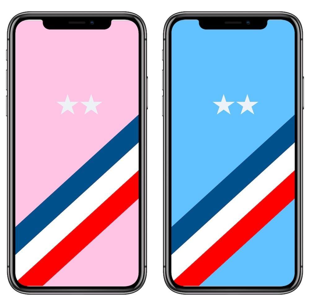 Iphone Iphone Bleu Fond Ecran Iphone