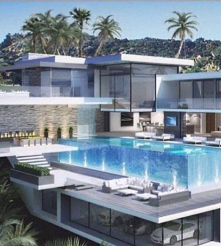 Style de vie de milliardaire maison moderne décoration de maison le seul ma maison modèle maison plantes