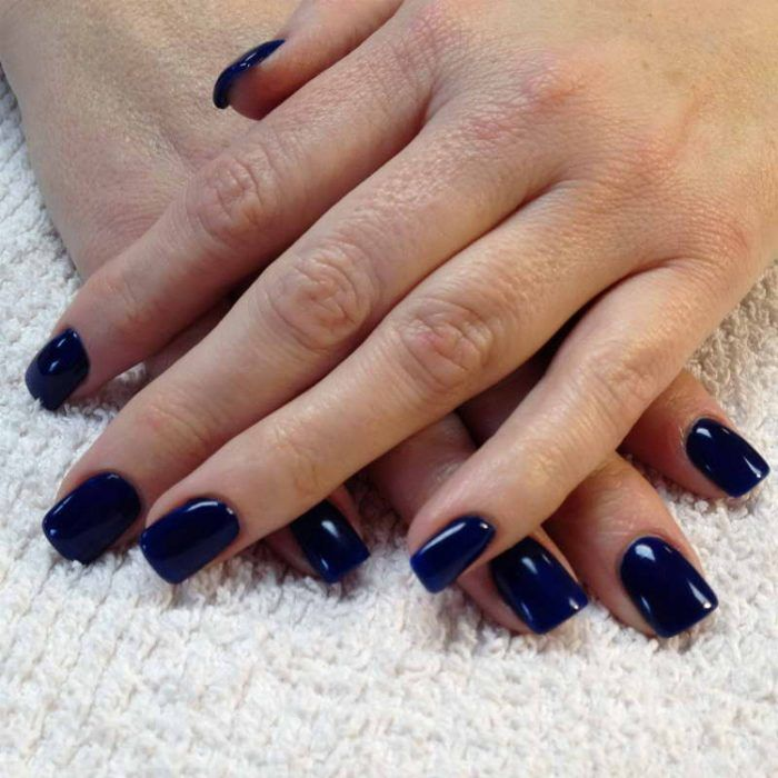 22 Dark Blue Gel Nail Polish Designs On Natural Nails S 252 223 E Geln 228 Gel Nat 252 Rliche Geln 228 Gel