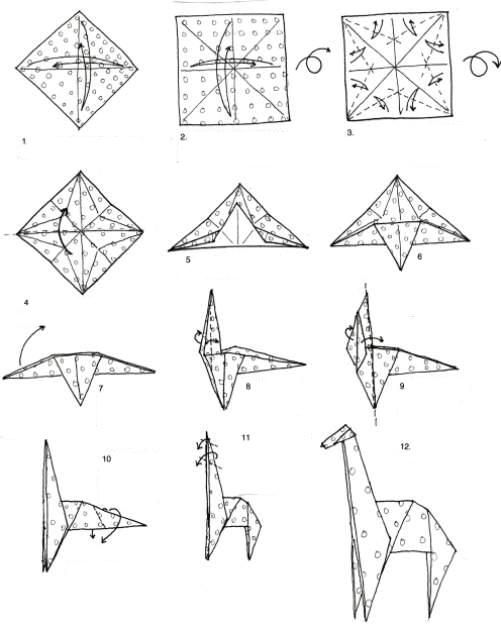 These are instructions on how to make an origami animal. I ... - photo#25